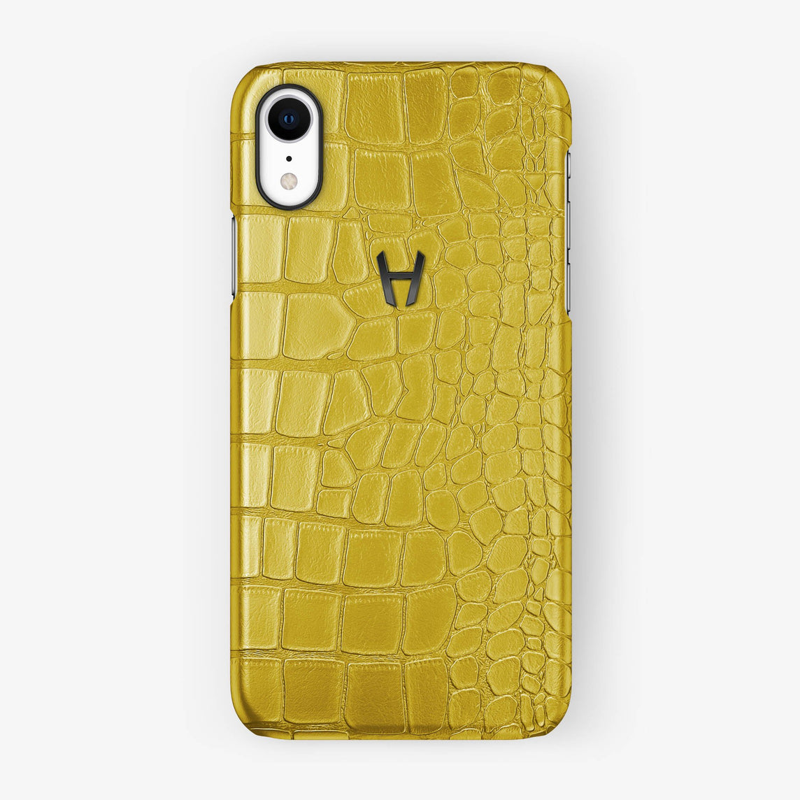 Alligator [iPhone Case] [model:iphone-xr-case] [colour:yellow] [finishing:black]