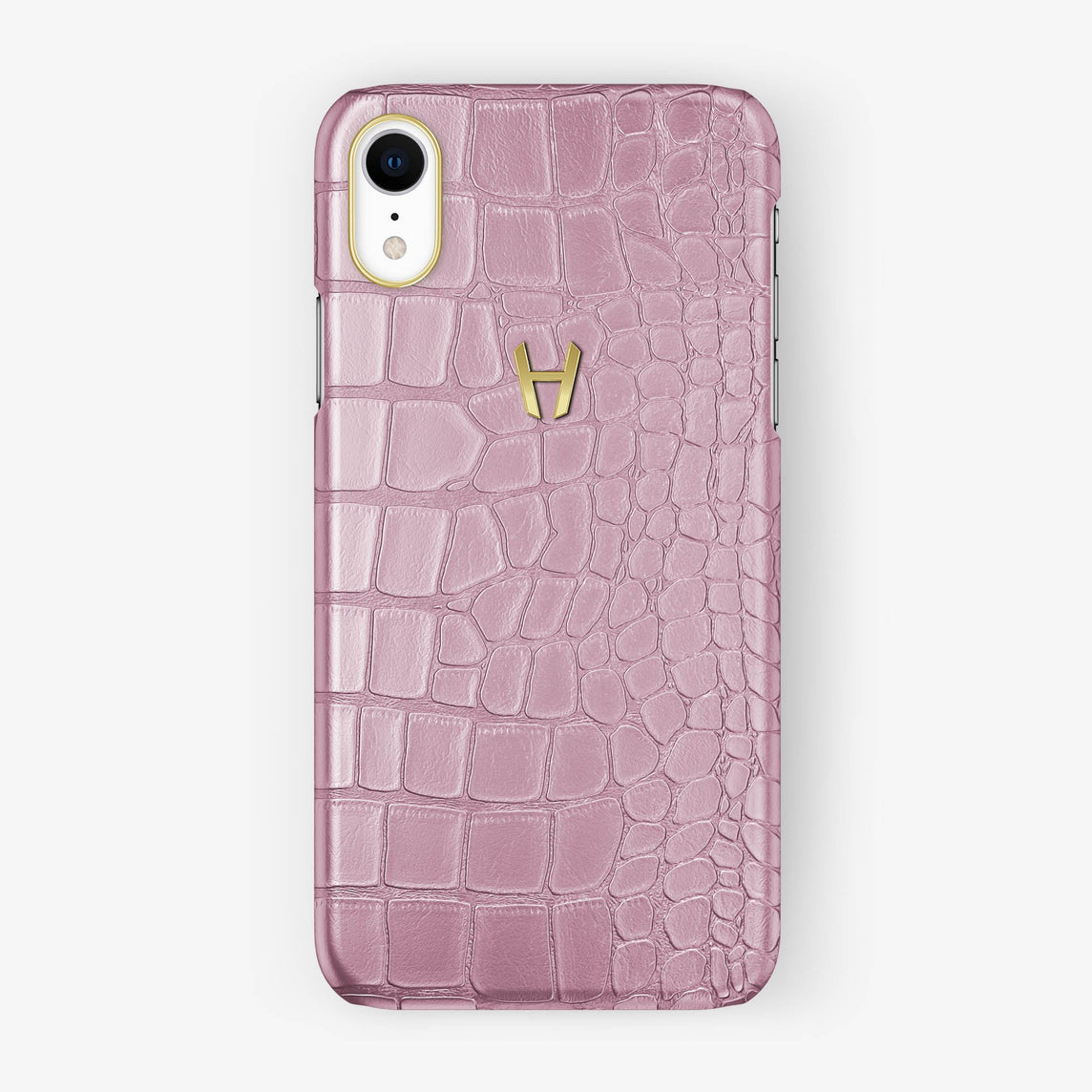 Alligator [iPhone Case] [model:iphone-xr-case] [colour:pink] [finishing:yellow-gold]