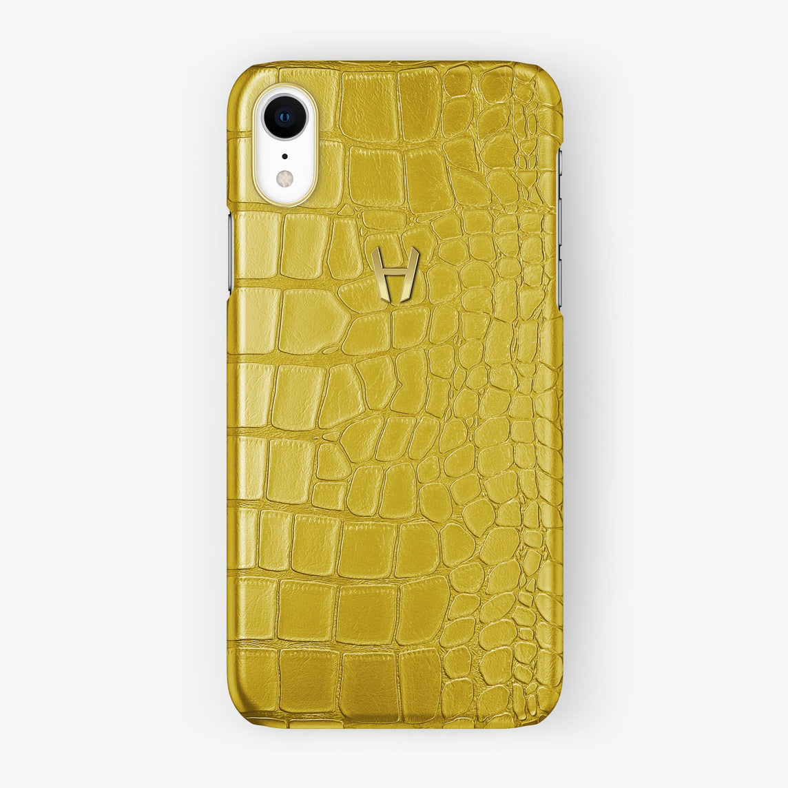 Alligator [iPhone Case] [model:iphone-xr-case] [colour:yellow] [finishing:yellow-gold]