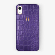 Alligator [iPhone Case] [model:iphone-xr-case] [colour:purple] [finishing:rose-gold]