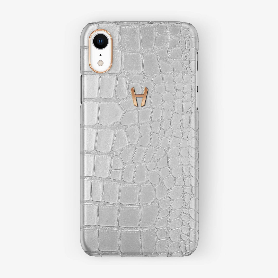 Alligator [iPhone Case] [model:iphone-xr-case] [colour:white] [finishing:rose-gold]