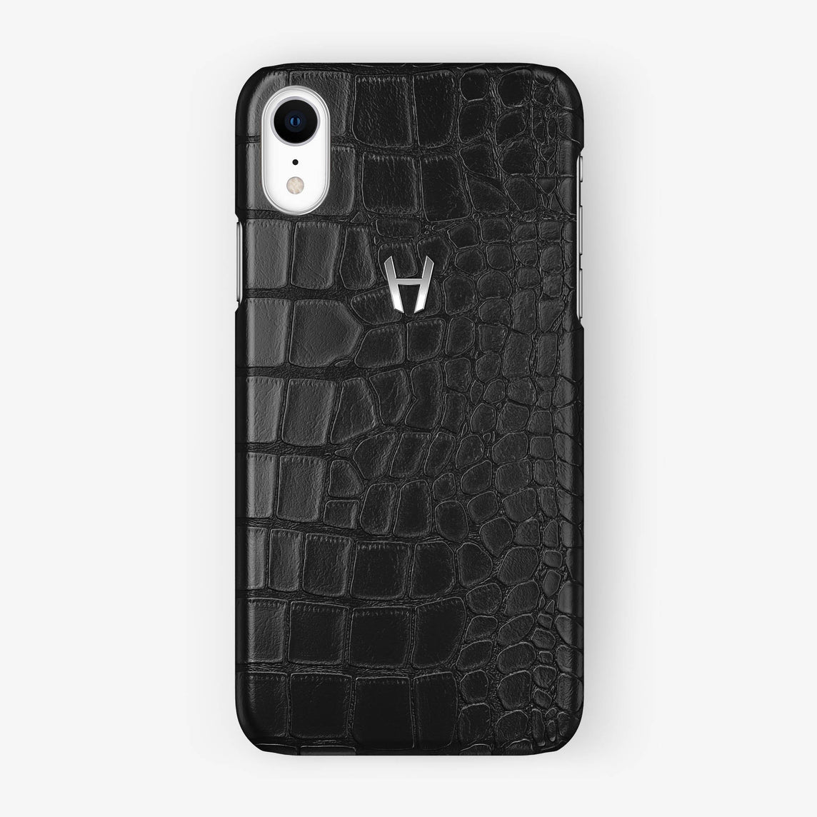 Alligator [iPhone Case] [model:iphone-xr-case] [colour:black] [finishing:stainless-steel]