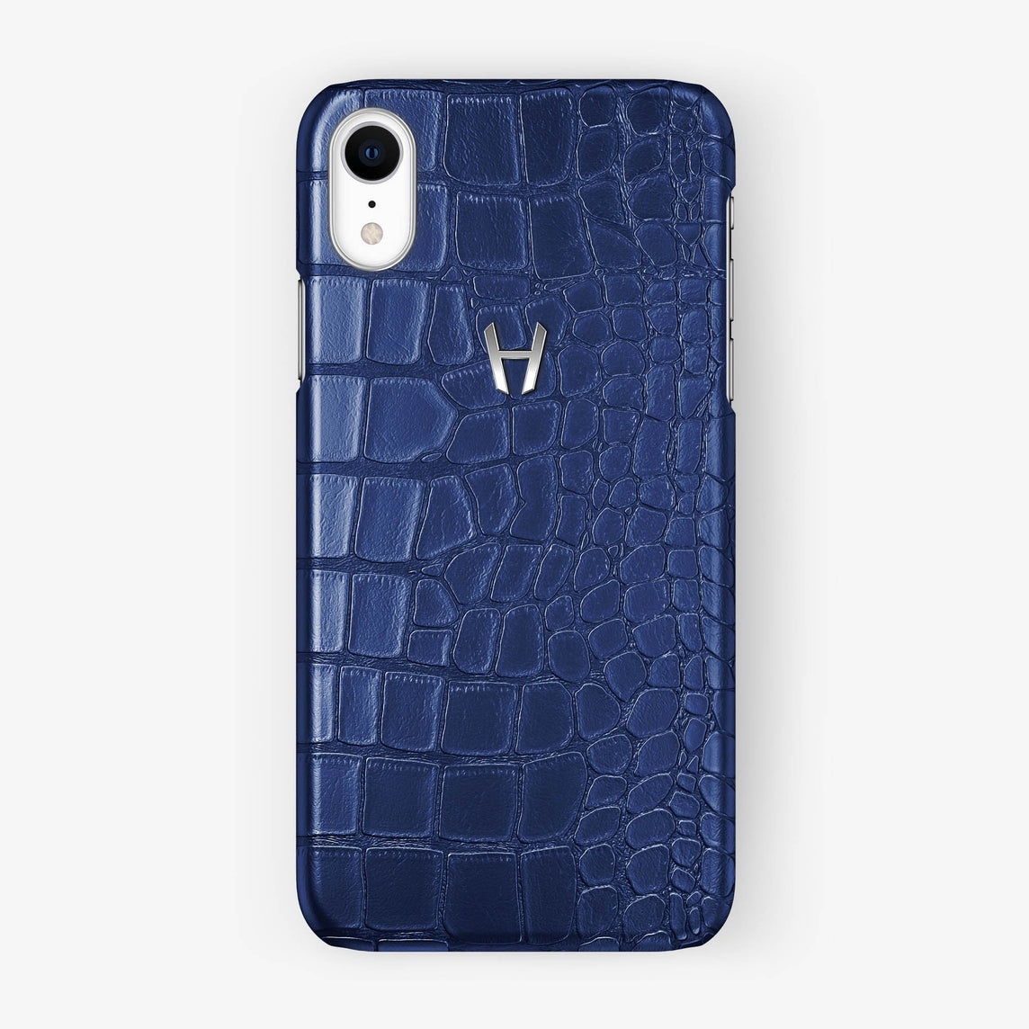 Alligator [iPhone Case] [model:iphone-xr-case] [colour:navy-blue] [finishing:stainless-steel]