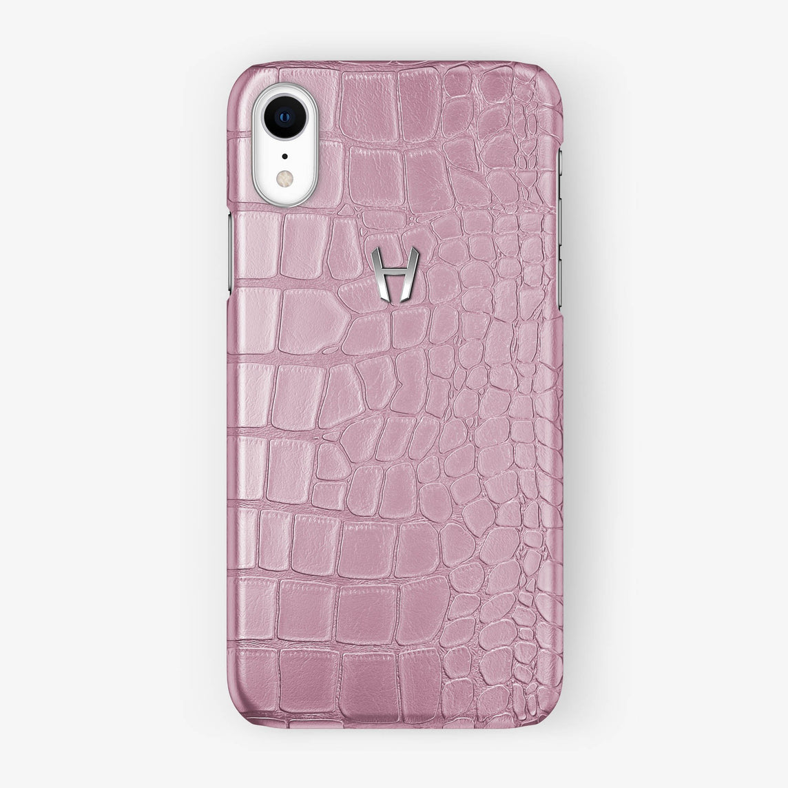 Alligator [iPhone Case] [model:iphone-xr-case] [colour:pink] [finishing:stainless-steel]