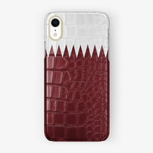 Alligator [iPhone Case Flag of Qatar] [model:iphone-xr-case] [finishing:yellow-gold]