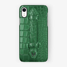 Alligator [iPhone Finger Case] [model:iphone-xr-case] [colour:green] [finishing:black]