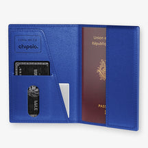 Alligator Passport Cover  | Peony - Stainless Steel