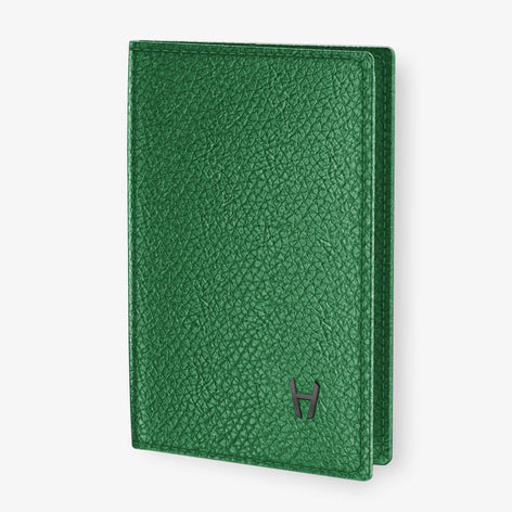 Calfskin Passport Cover  | Green - Black