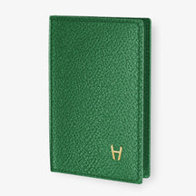 Calfskin Passport Cover  | Green - Yellow Gold