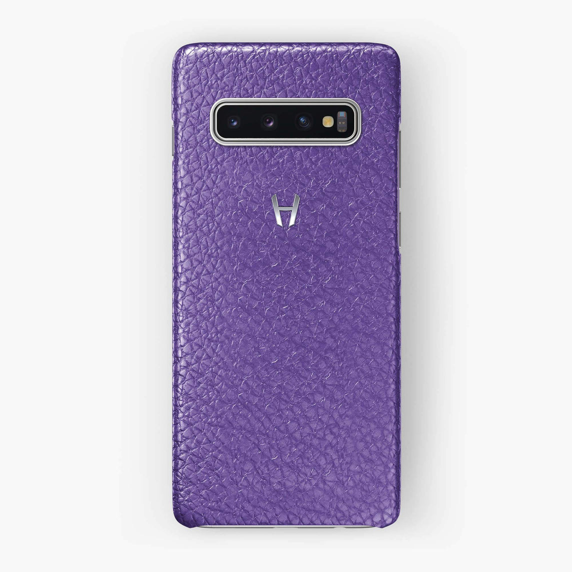 Calfskin Case Samsung S10 | Purple - Stainless Steel