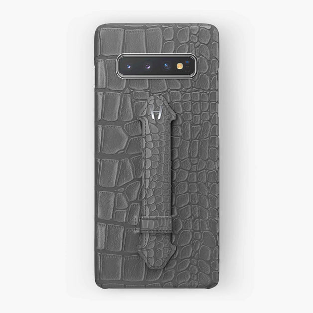 Alligator Finger Case Samsung S10 | Grey - Stainless Steel