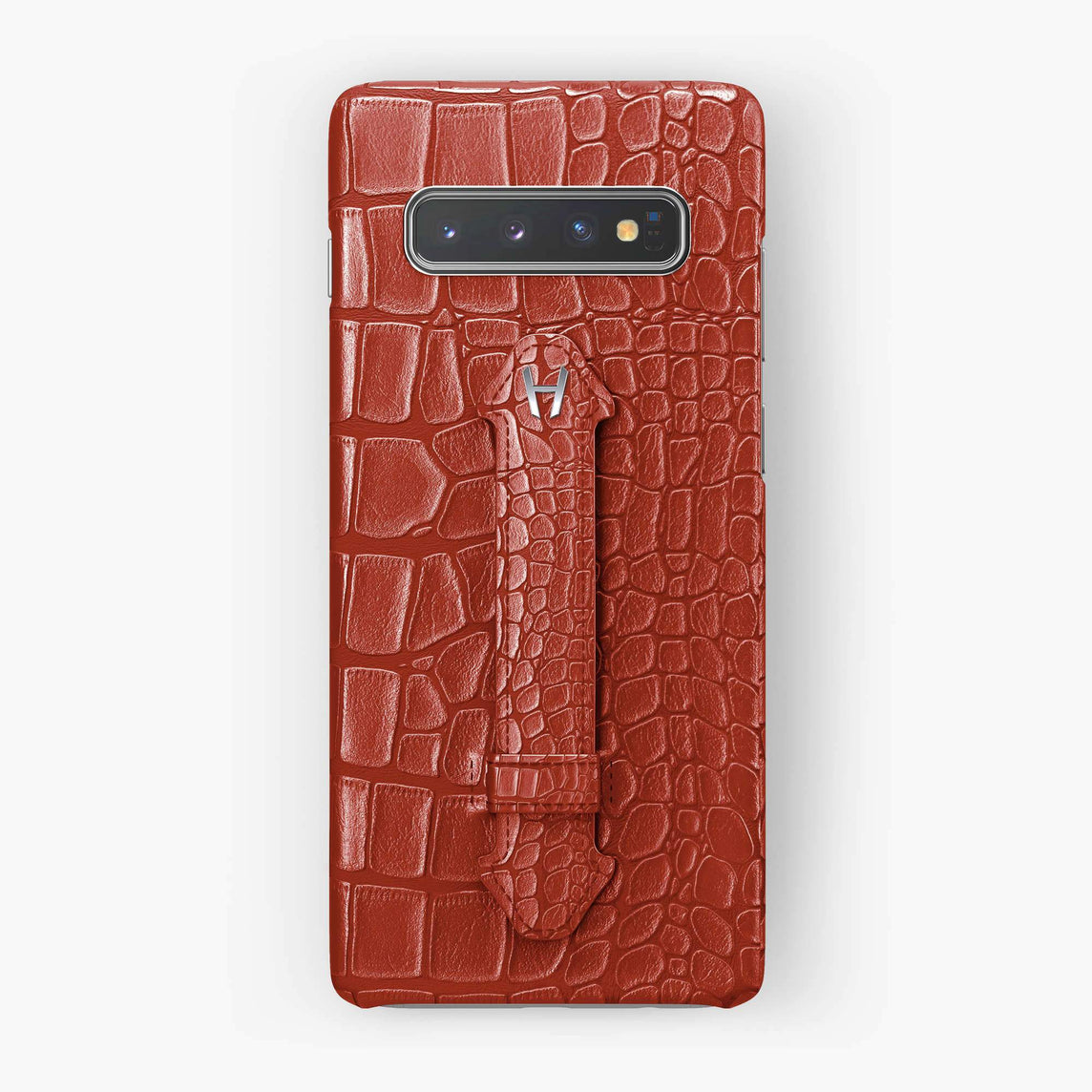 Alligator Finger Case Samsung S10 | Red - Stainless Steel