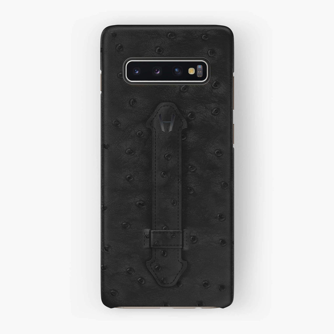 Ostrich Finger Case Samsung S10 | Grey Anthracite - Black without-personalization