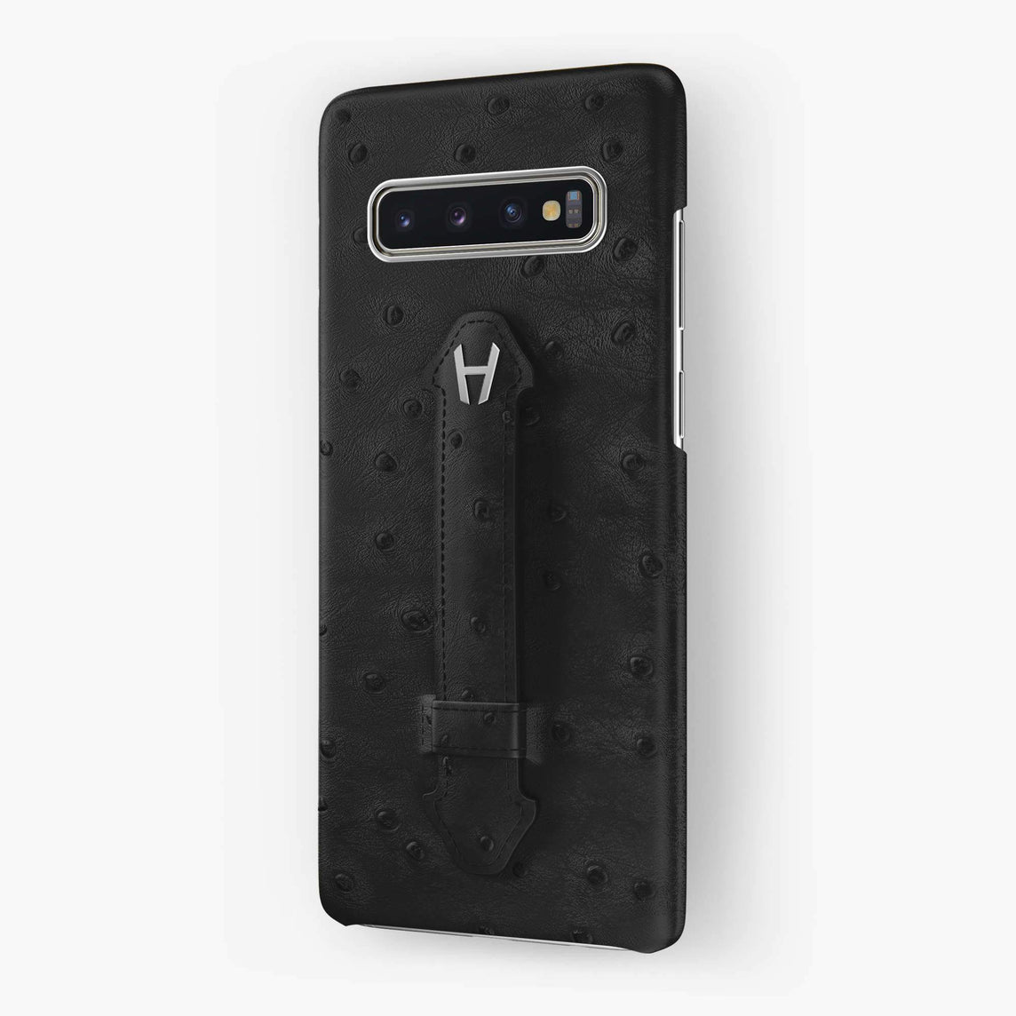Ostrich Finger Case Samsung S10 | Grey Anthracite - Stainless Steel without-personalization