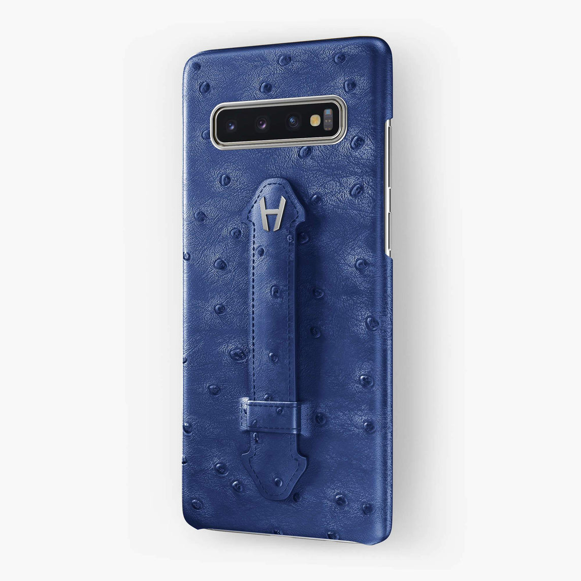 Ostrich Finger Case Samsung S10 | Blue - Stainless Steel without-personalization
