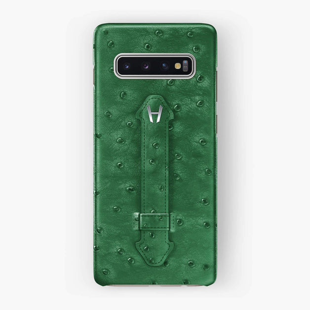 Ostrich Finger Case Samsung S10 | Green - Stainless Steel without-personalization