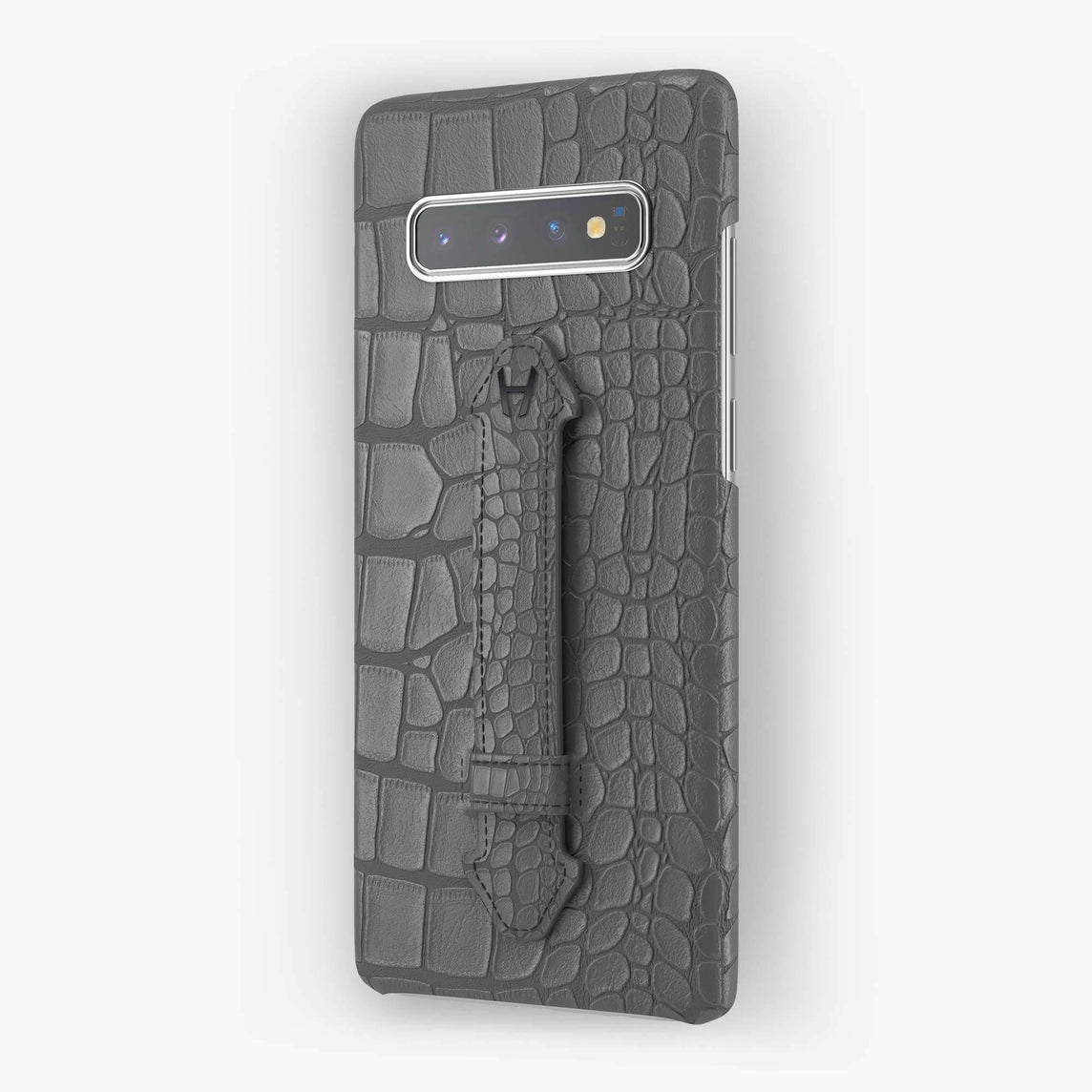 Alligator Finger Case Samsung S10 Plus | Grey - Black