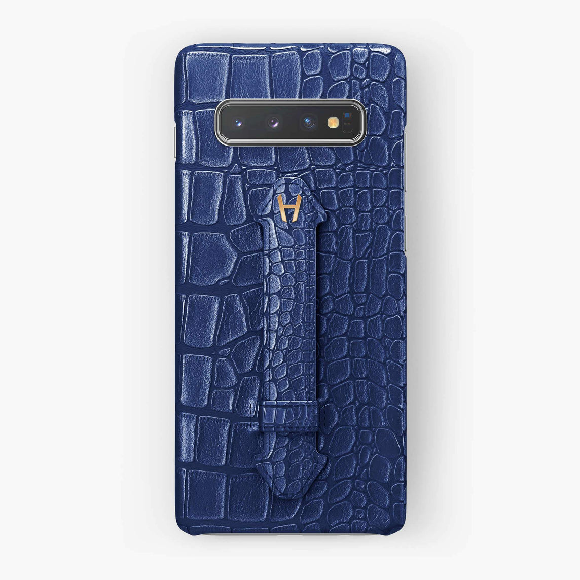 Alligator Finger Case Samsung S10 Plus | Navy Blue - Rose Gold
