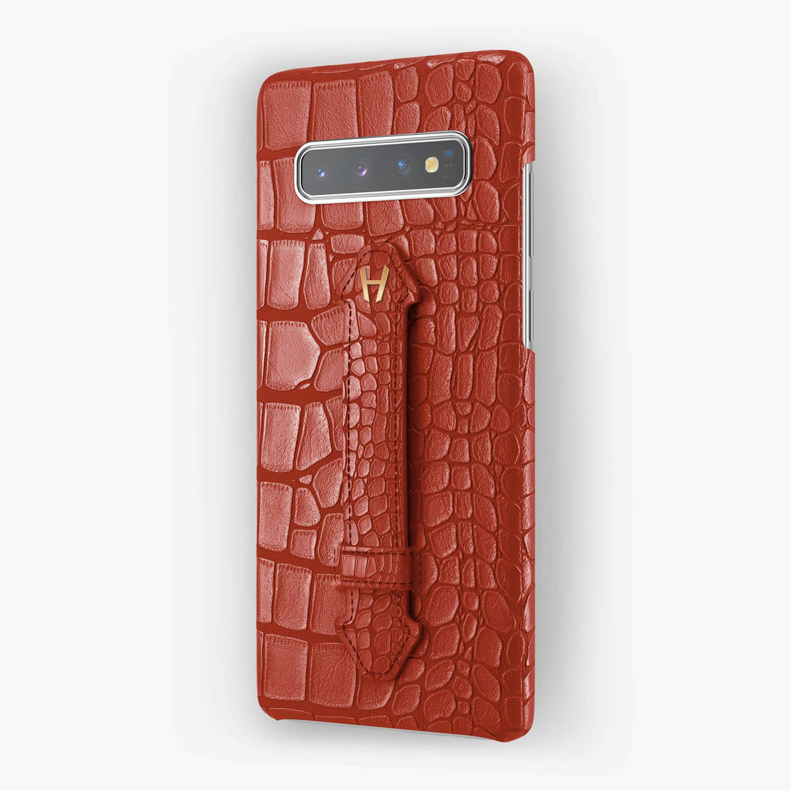 Alligator Finger Case Samsung S10 Plus | Red - Rose Gold