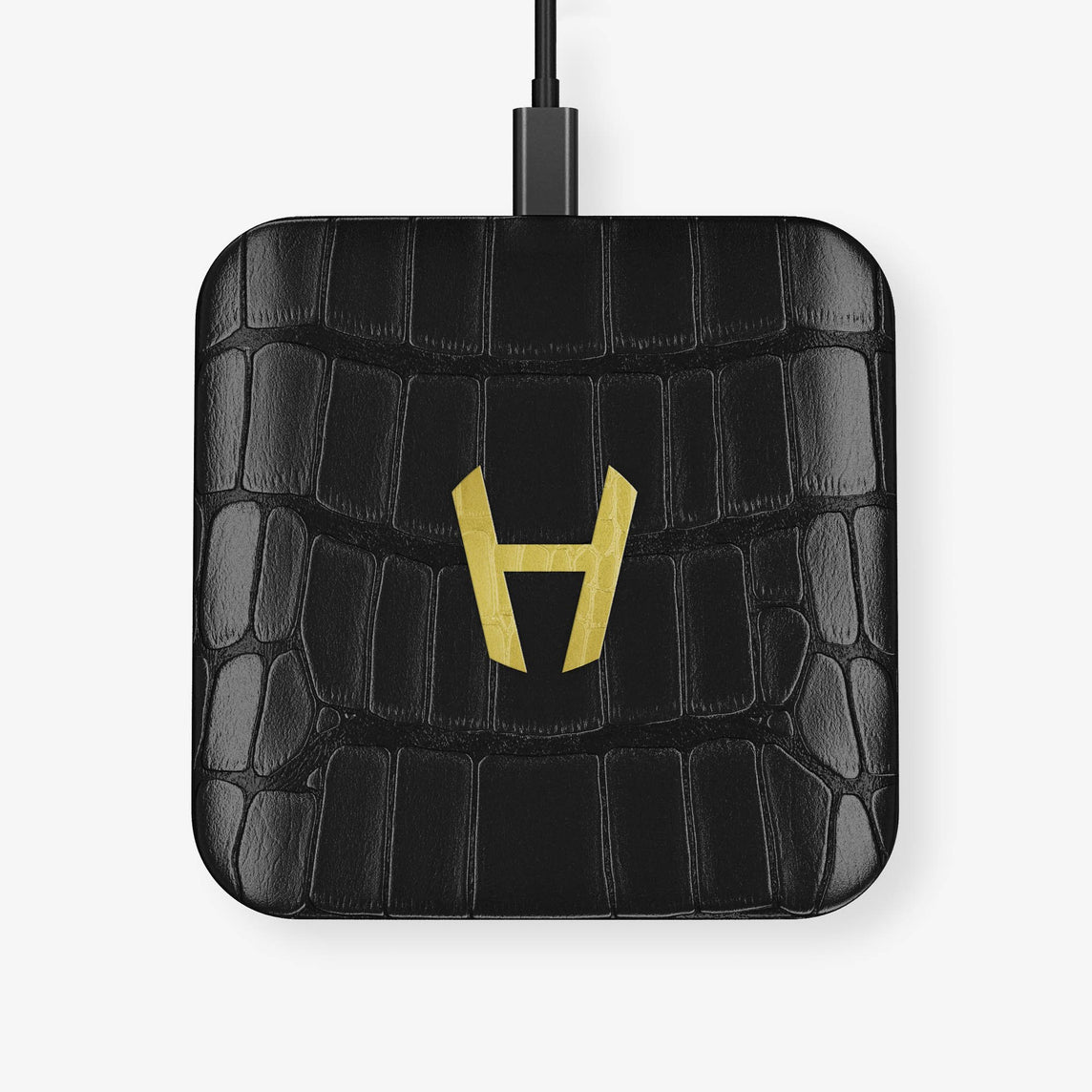 Alligator Hadoro Wireless Charging Pad | Black - Yellow Gold without-personalization