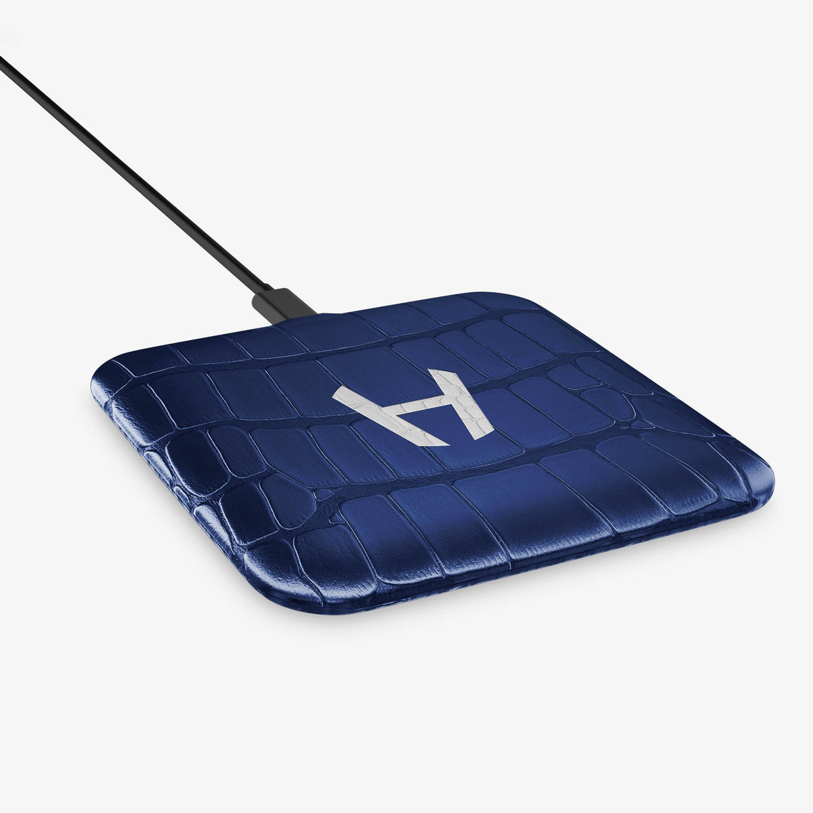 Alligator Hadoro Wireless Charging Pad | Navy Blue - Stainless Steel without-personalization