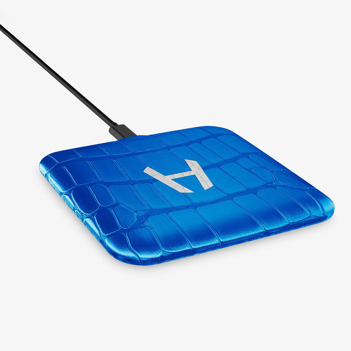 Alligator Hadoro Wireless Charging Pad | Peony Blue - Stainless Steel without-personalization