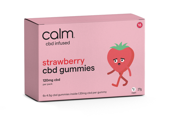 Strawberry CBD Gummies 6 Pack - 120mg