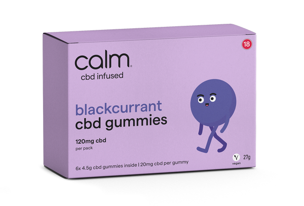Blackcurrant CBD Gummies 6 Pack - 120mg