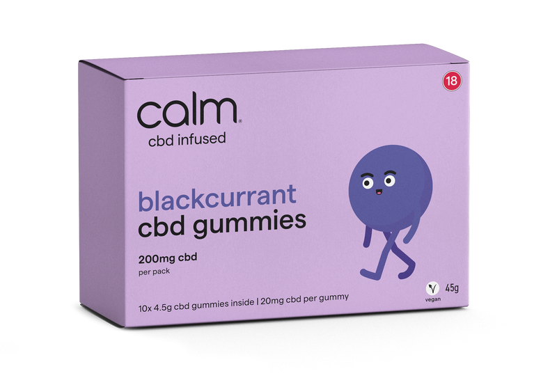 Blackcurrant CBD Gummies 10 Pack - 200mg
