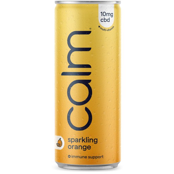 Orange Sparkling Water CBD Infused Drink
