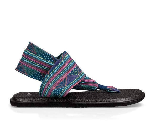 Sanuk women's Yoga Slink navy sandals