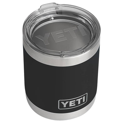 YETI 10 ounce Rambler Lowball in black