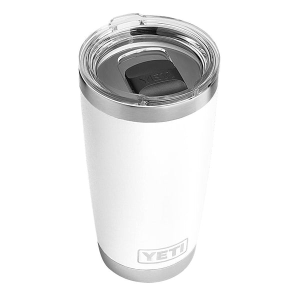 YETI 20 ounce rambler in white with magslider lid