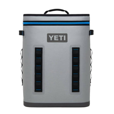 YETI Hopper Backflip 24 Soft Cooler in Fog Gray. Backpack straps for hands free hauling.