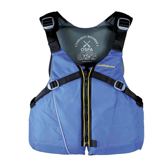 Stohlquist men's OSFA pacific bluelife vest for kayaking and paddleboarding