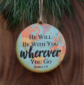 Driftless Studios - Joshua 1:9 Map Christmas Ornament