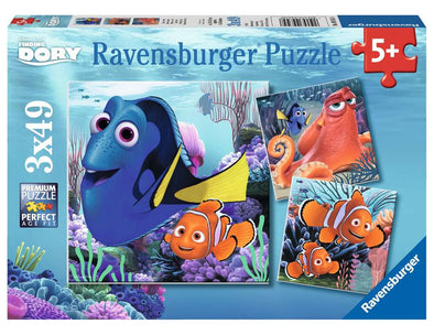 Disney's Finding Dory Ravensburger Kids Puzzles - three 49 piece puzzles