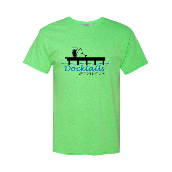 Docktails men's t-shirt in lime green, perfect for all your beach bar and tiki bar adventures