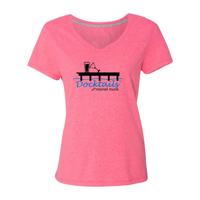 Women's Docktails apparel pink t-shirt, perfect for your beach bar adventures