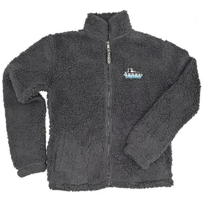 Docktails Sherpa Women's Full Zip in Charcoal