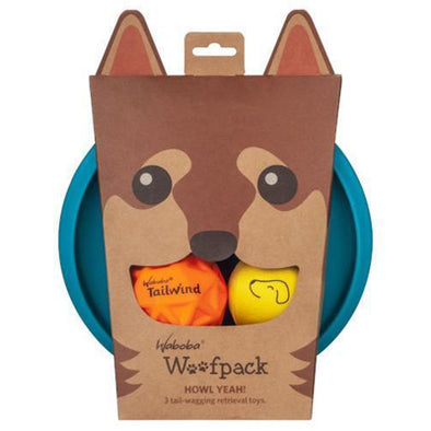 Waboba Doggy Play Pack three in one dog toy set
