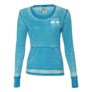 Have Fun Grow Young Women's Long Sleeve Thermal Shirt in Caribbean Blue