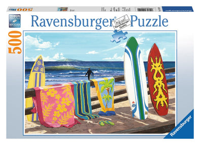 Ravensburger Hang Loose 500 piece surfboard beach puzzle