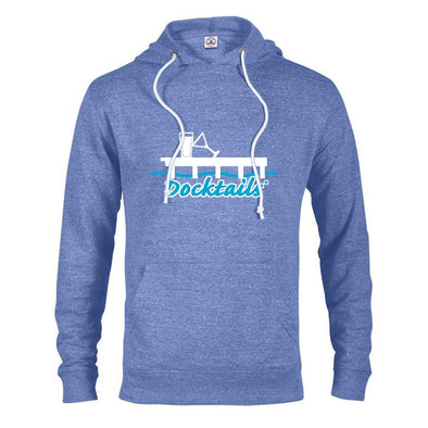 Docktails pullover hoodie in royal snow heather - perfect for dockside cocktails