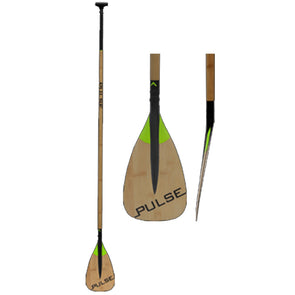 Bamboo carbon fiber paddleboard paddle from Pulse