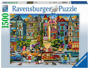 The Painted Ladies Ravensburger 1500 Piece Puzzle