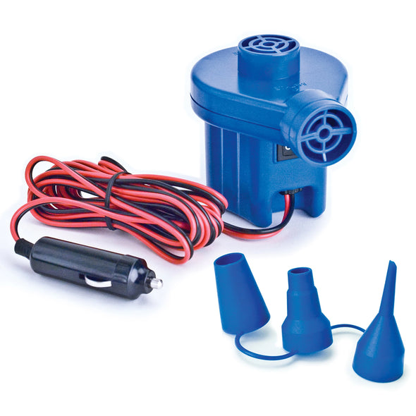 12V inflator pump for kayaks and floats