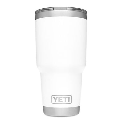 YETI white Rambler 30 ounce drink cup with magslider lid
