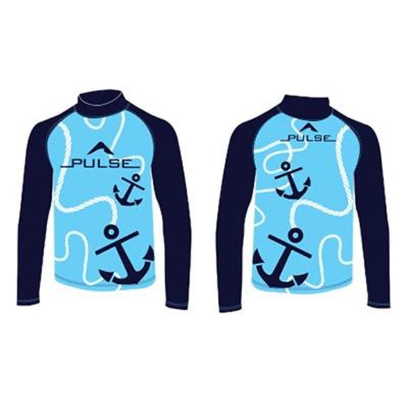 Children's blue rashguard from Pulse
