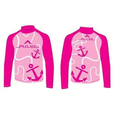 Children's pink rashguard from Pulse
